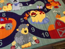 FARM COUNTING CHILDREN'S 200X300CM RUGS PLAY MATS HOME/SCHOOL LEARNING LARGE MAT